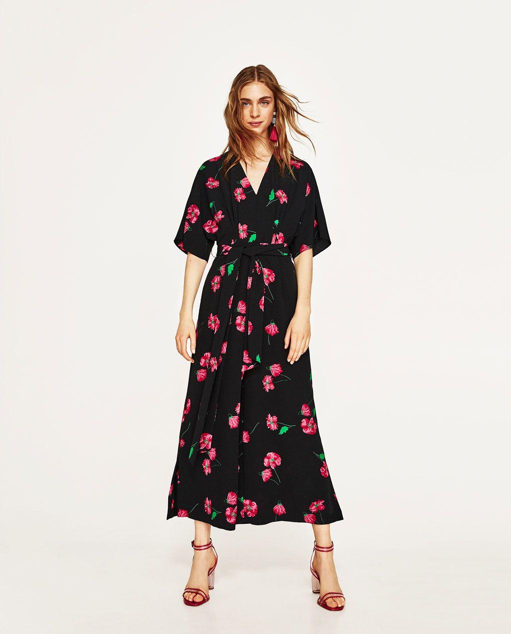 4f5f9d12 MONO ESTAMPADO FLORAL   Vestidos   Floral jumpsuit, Zara jumpsuit ...