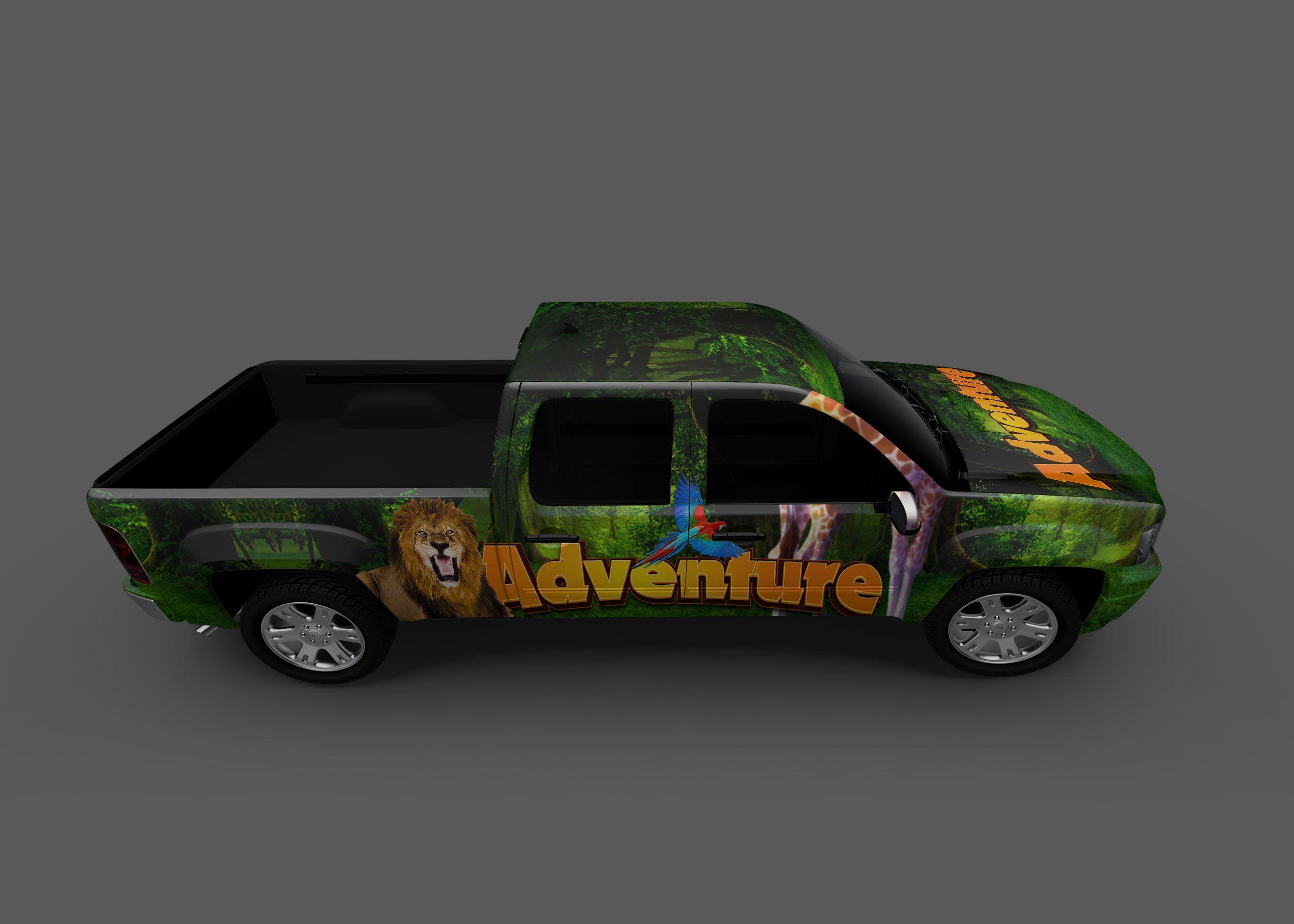 Adventure Pickup Truck Mockup Free logo mockup, Mockup