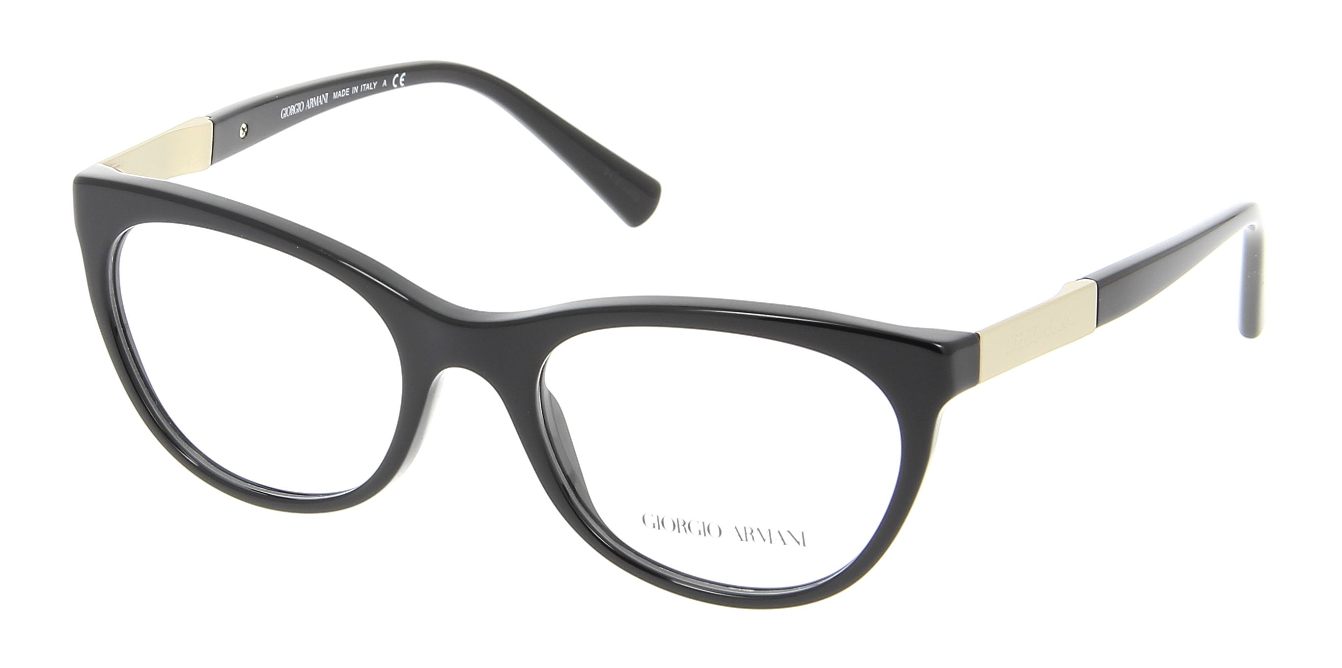 Eyeglasses GIORGIO ARMANI AR 7082 5017 54/19 Woman Noir square ...