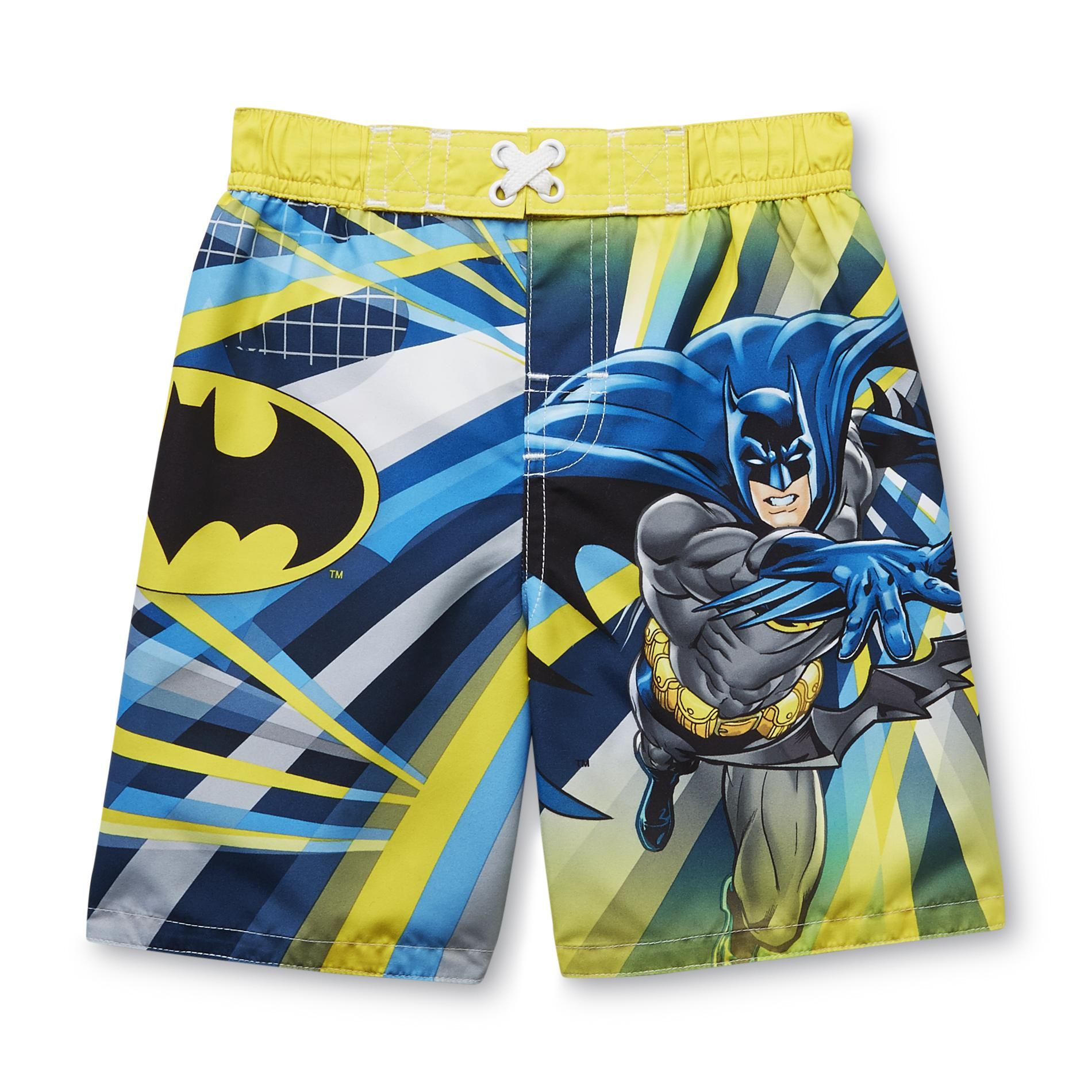 52be7f7083 What sets these Kmart Batman swim trunks apart from other toddler-boy  styles is a drawstring. No more Bat-mooning at the Batpool.