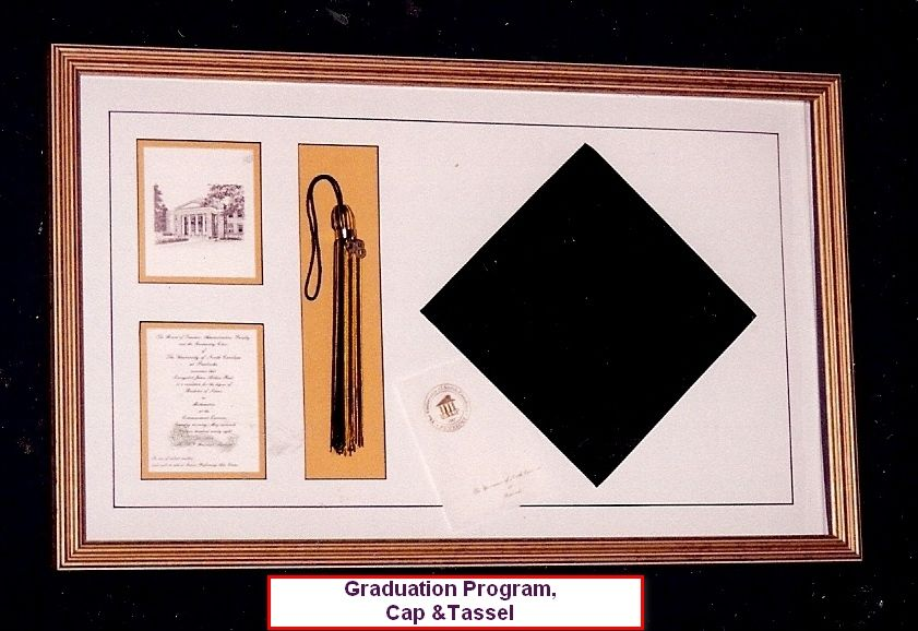 Frame for graduation cap, tassel, program and invitation | Ray one ...