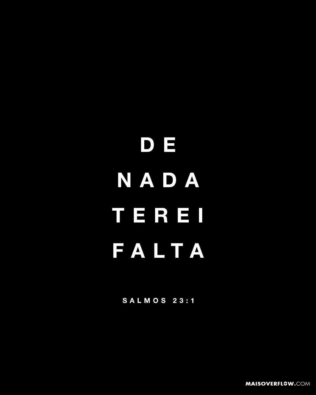 O Senhor E O Meu Pastor De Nada Terei Falta Salmos 23 1