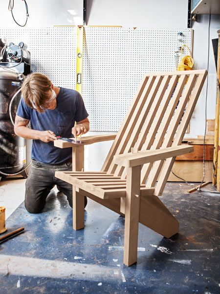 Modern Style Adirondack Chairs Gold Crushed Velvet Chair Covers How To Make A Contemporary Plans From Popular Mechanics