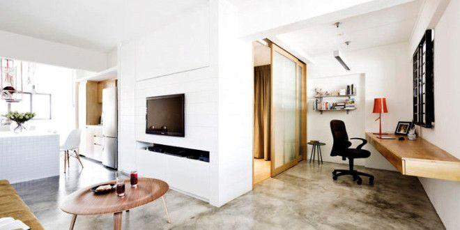 moderne einrichtung mit estrichboden für 1-zimmer-appartement - fresHouse