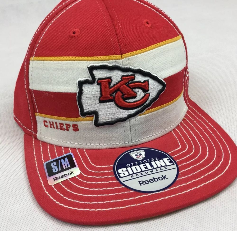 5b7d8cc5b090c ... hot nfl kansas city chiefs 2011 reebok official sideline cap hat size s  m unworn usa 38355 ...