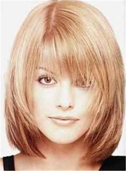 Sweet Shaggy Bob Medium Straight Synthetic Hair With Bangs Capless Wig 12 Inches Hair Styles Medium Hair Styles Medium Length Hair Styles