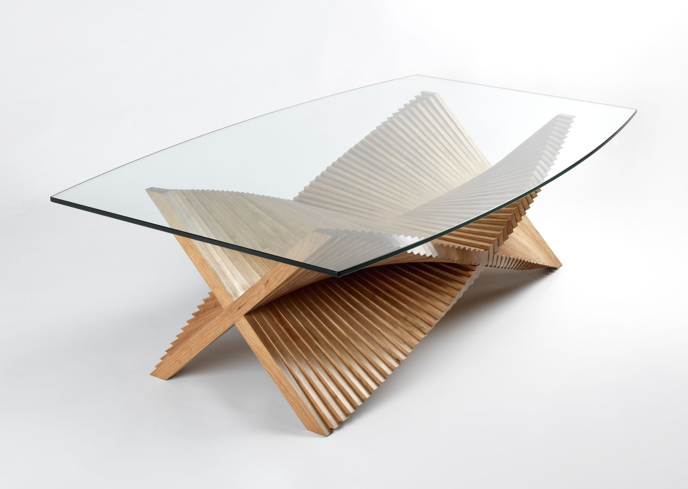 Beating Wings handmade sculptural coffee table by David Tragen