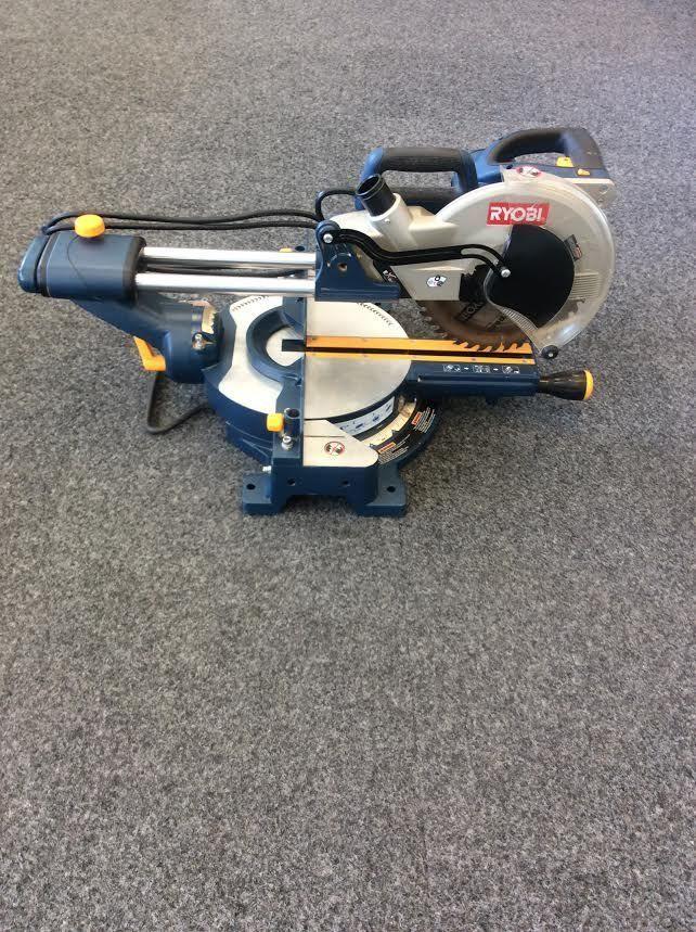Ryobi Tss100l 10 13 Amp Sliding Compound Miter Saw With Laser 5 000 Rpm Sliding Compound Miter Saw Compound Mitre Saw Miter Saw