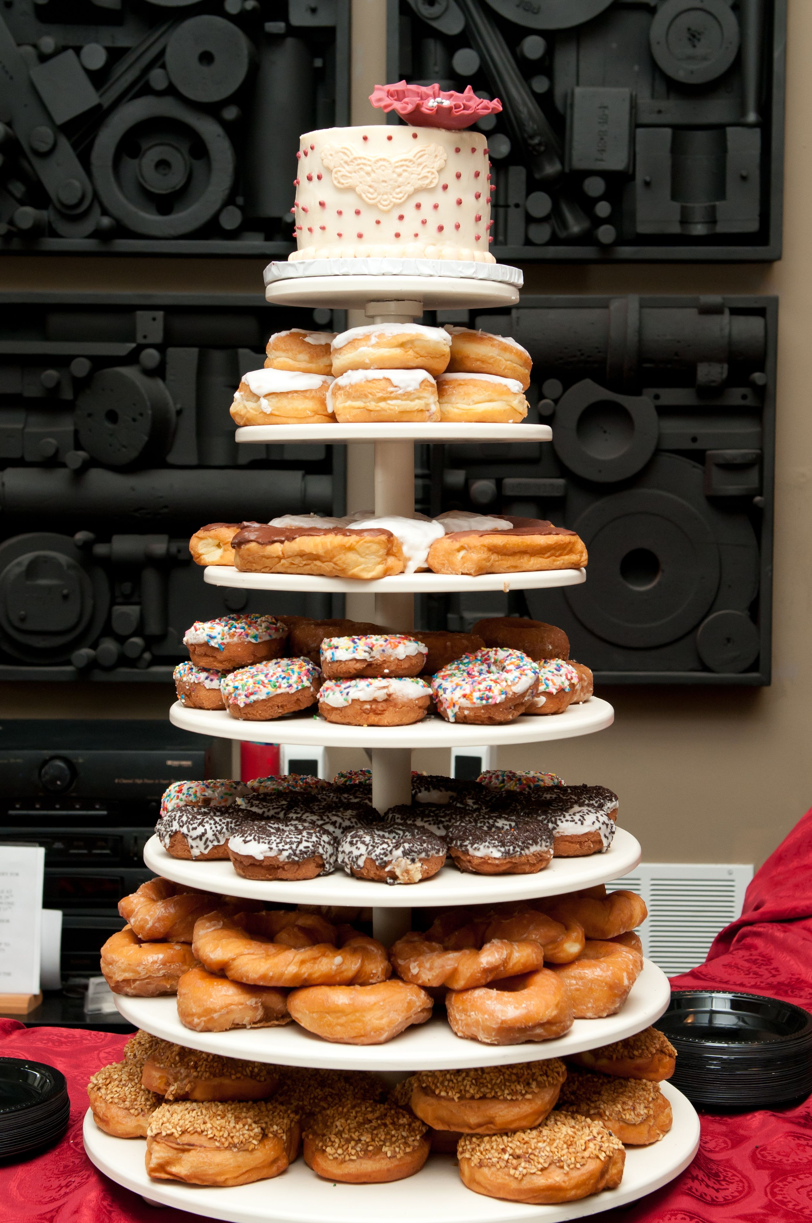 doughnut tier wedding cake bill 39 s donut shop dayton oh wedding pinterest shops. Black Bedroom Furniture Sets. Home Design Ideas