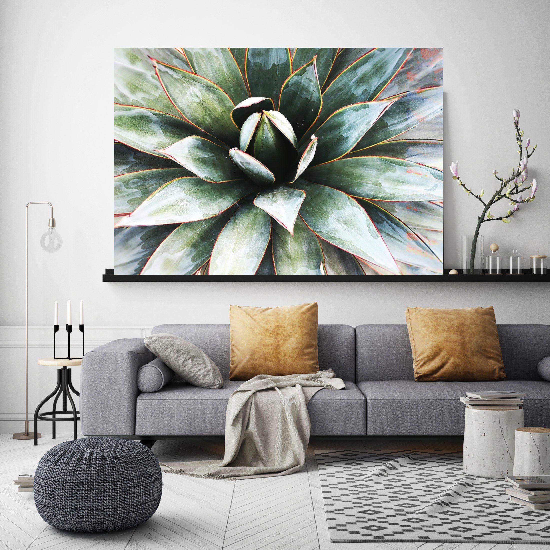 Agave Heart 1 Succulent Wall Art Pale Green Canvas Prints Etsy Succulent Wall Art Succulent Wall Succulent Art