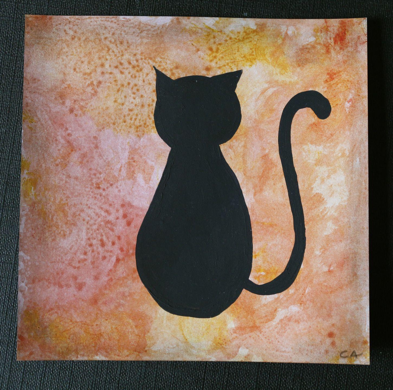 Carte De Voeux Chat Noir Ombres Chinoises Cartes Par Cat Crea