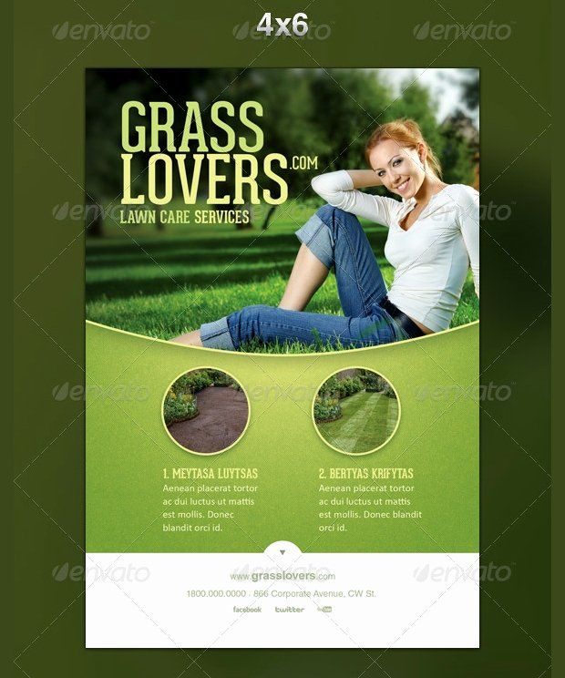 52 Business Flyer Templates Psd Ai Indesign: 40 Lawn Care Flyer Template