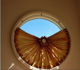 Round window curtain pinteres for Round window design