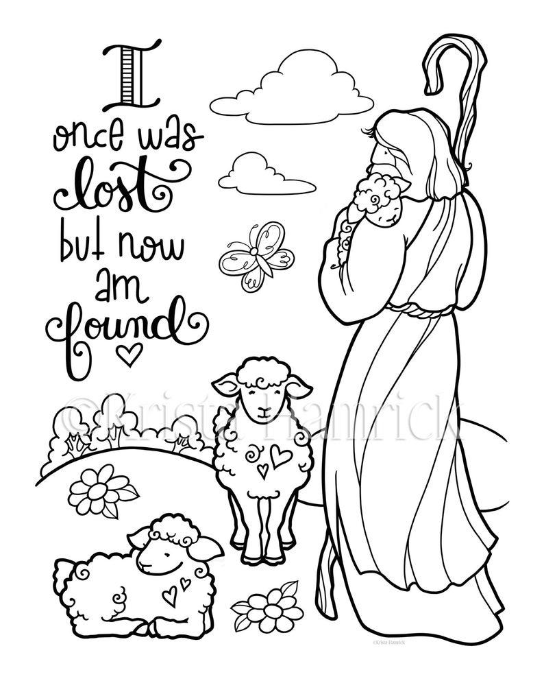 Good Shepherd  2 coloring pages for children