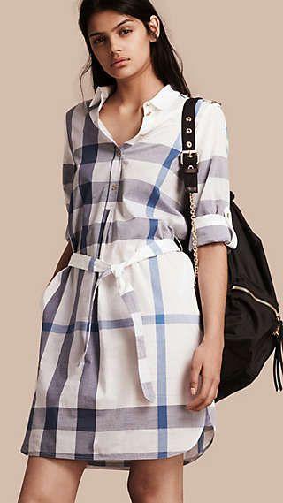 Платья и комбинезоны для женщин   Burberry   linen fashion ... cce0f236022