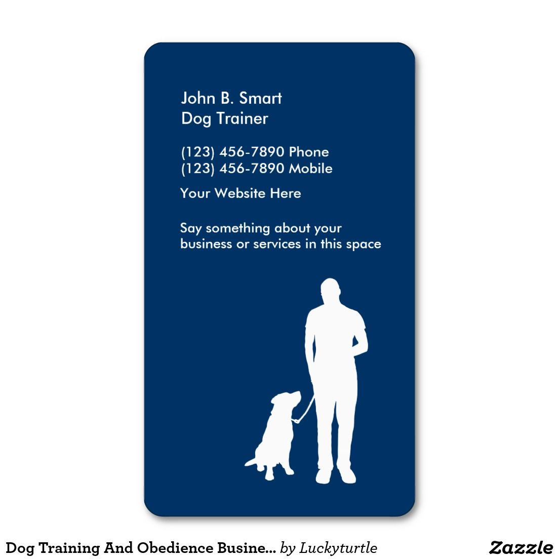 Dog Training And Obedience Business Cards | Business cards, Business ...