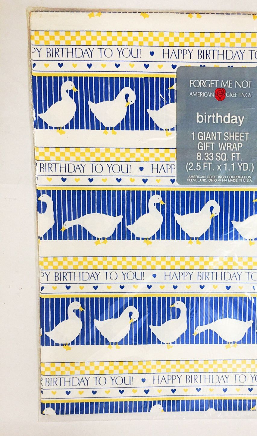 Vintage Gift Wrapping Paper Unused 833 Sq Ft 30 X 40 In