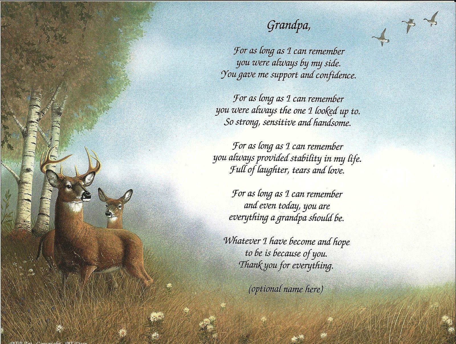 Happy Birthday In Heaven Poems Grandpa