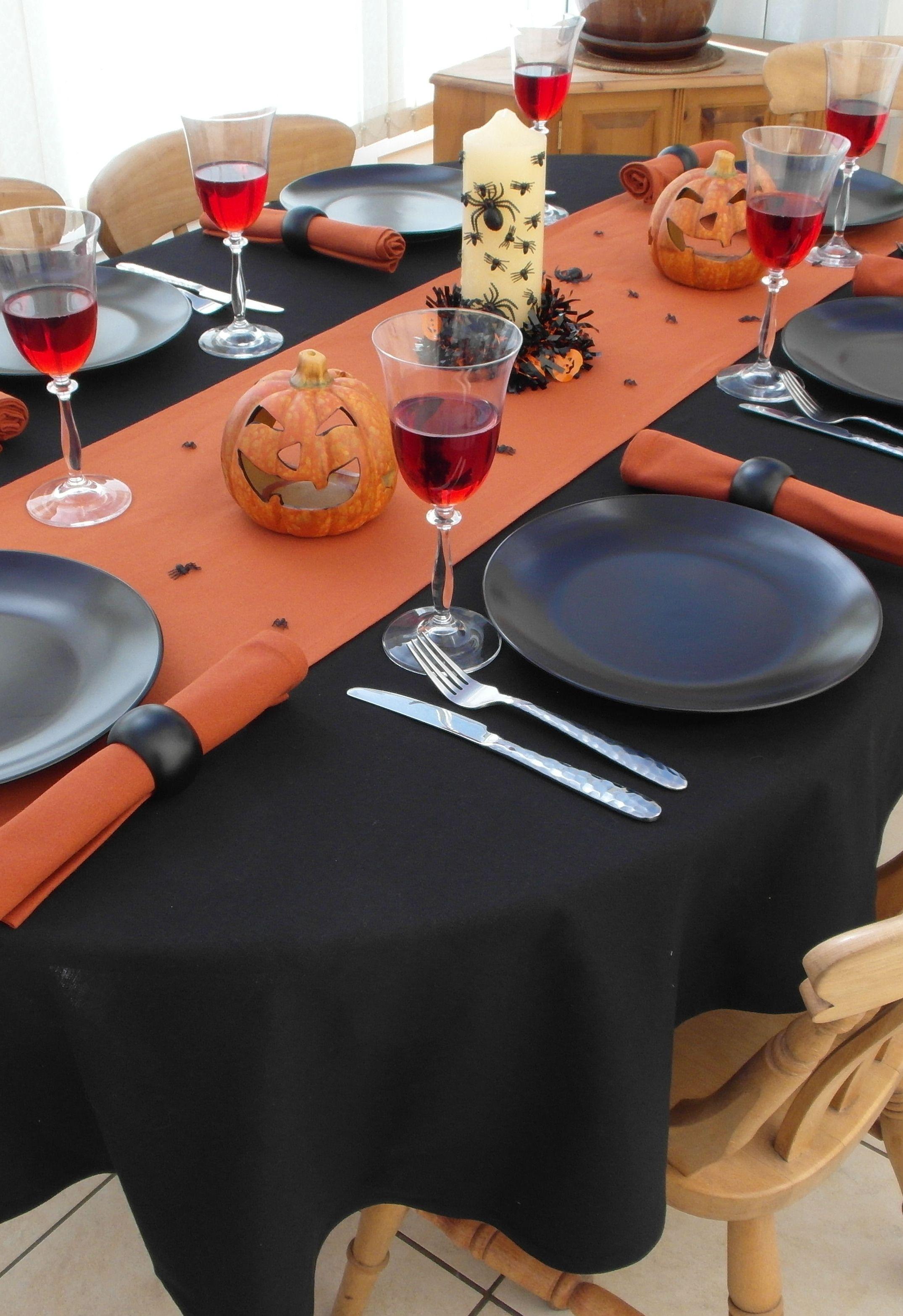Black Oval Tablecloth