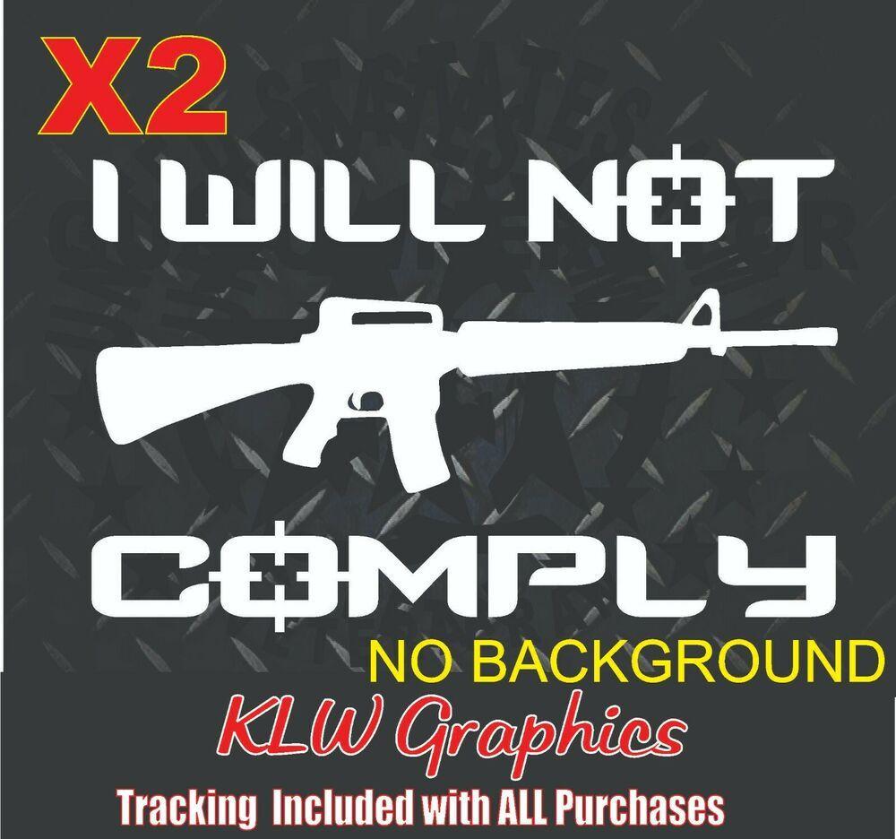 ASSAULT RIFLE HANDGUN GUNS Car Truck Window Vinyl Decal Sticker MY FAMILY