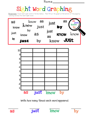 sight word graphing this site charges but you could easily make
