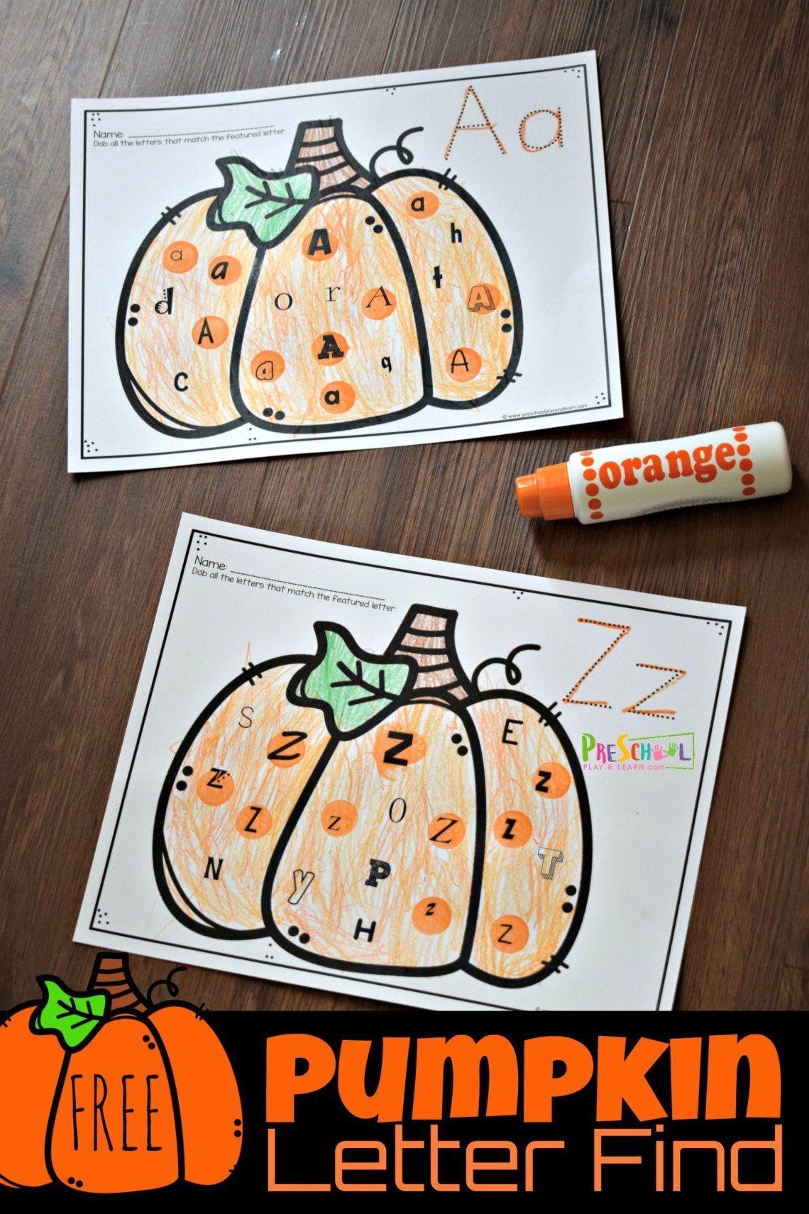 Free Pumpkin Letter Find