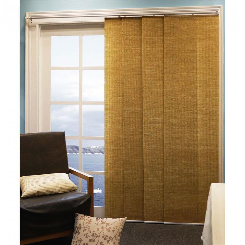 Panel track shades french door sliding vertical blinds vertiglide