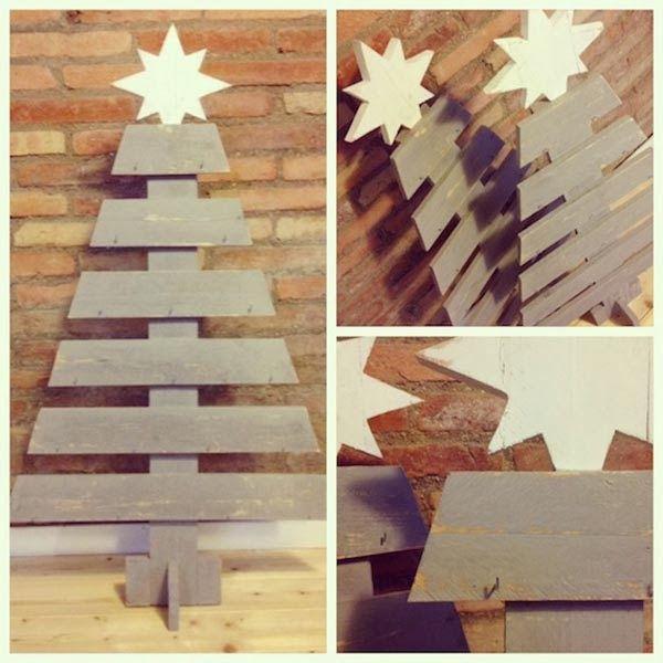 Rboles de navidad de listones y ramas salvaged wood christmas trees navidad christmas - Arboles de navidad de madera ...