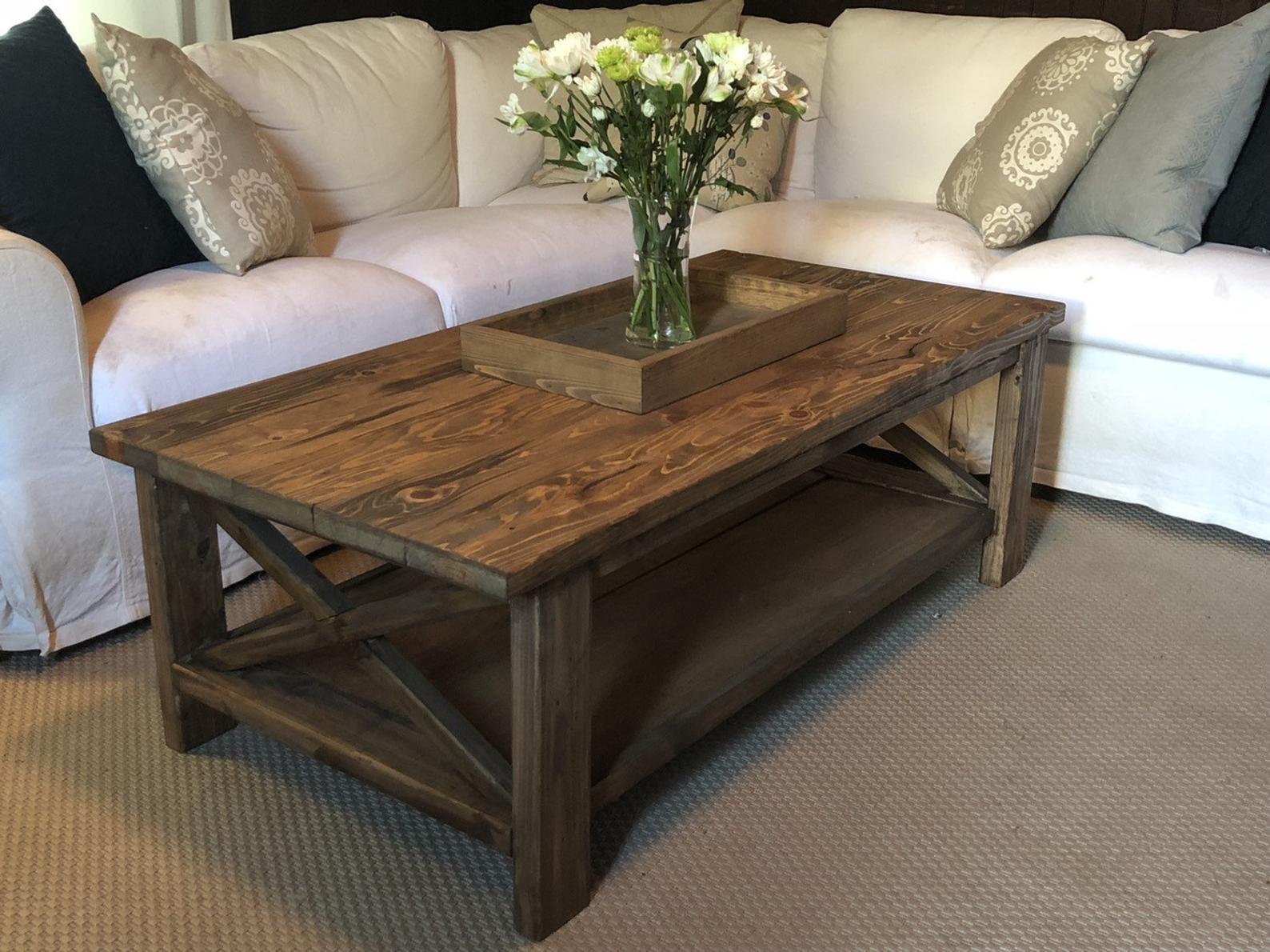Rustic Farmhousestyle Coffee Table in 2020 Farmhouse