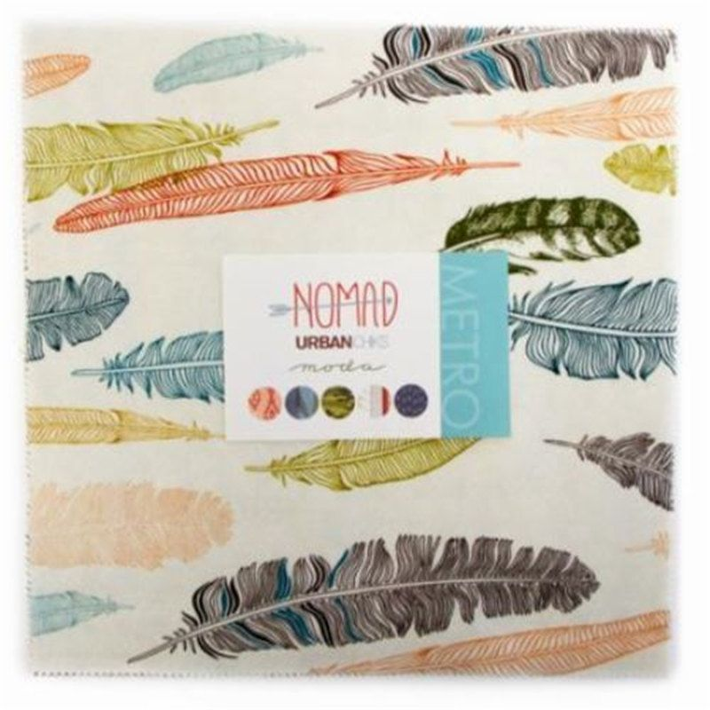 """Moda Fabric NOMAD by UrbanChiks -  42 Piece Layer Cake 10""""  Squares Stacker by SeamsSewCharming on Etsy"""