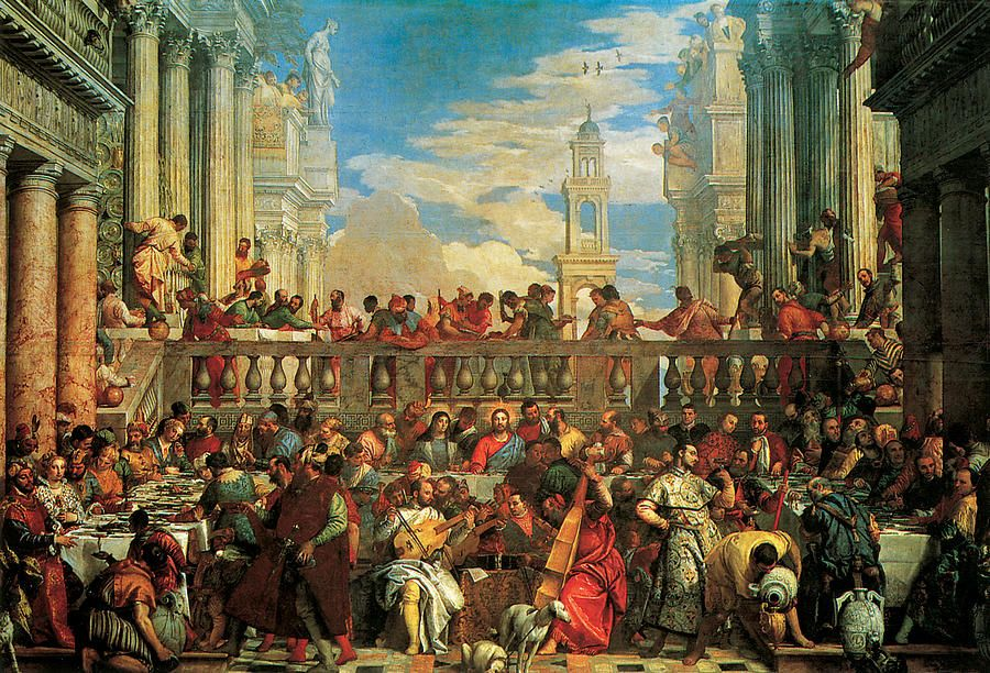 The Wedding Feast At Cana By Veronese In 2020 Jesus Art Jesus Pictures Fine Art