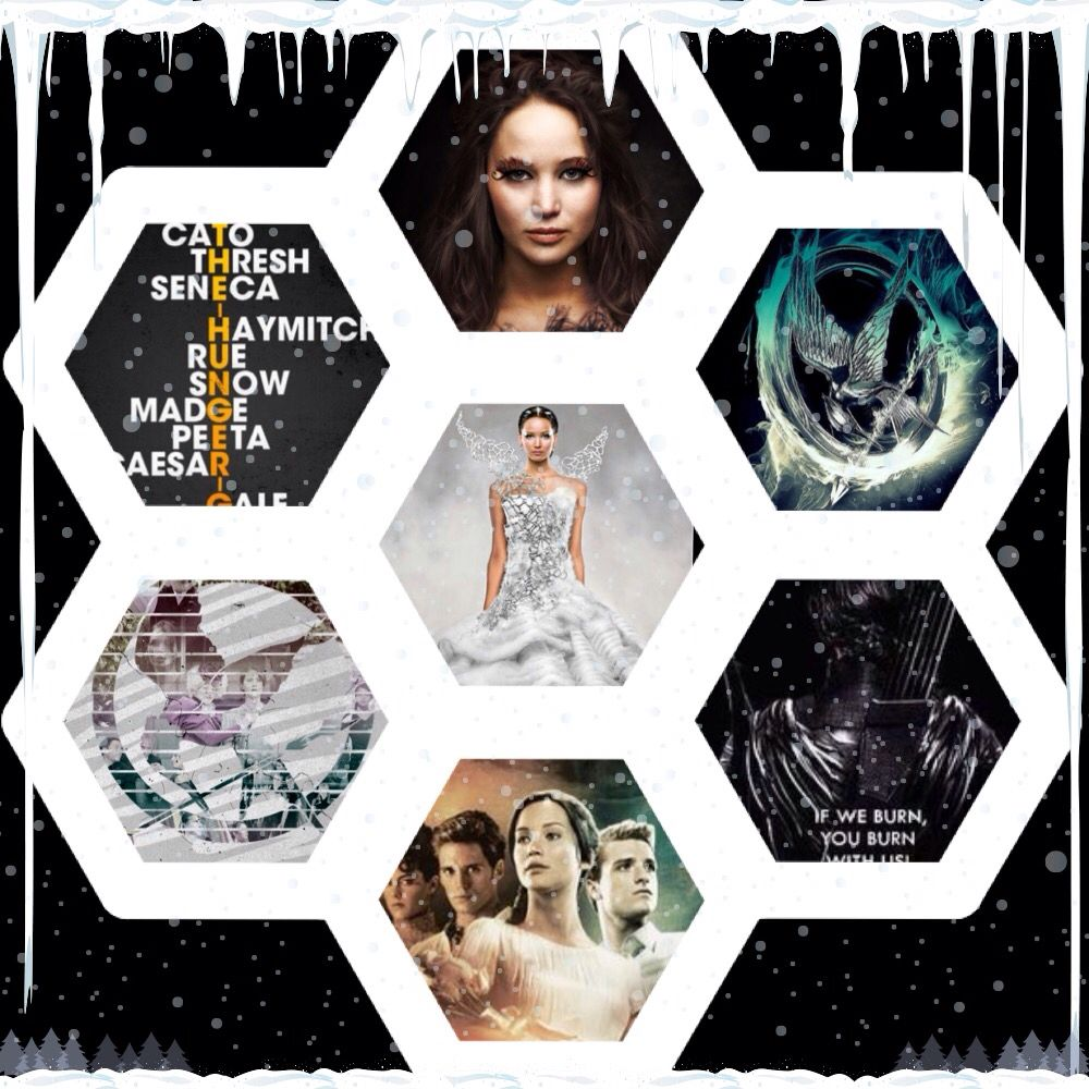 Hunger games collage this shows pictures from both movies ...