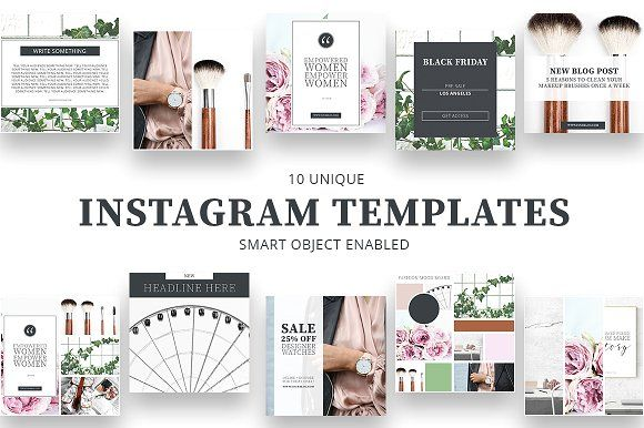 Instagram Templates Web Elements Socialmedia Templates Instagram Pinterest Facebo Social Media Template Instagram Template Photoshop Template Design