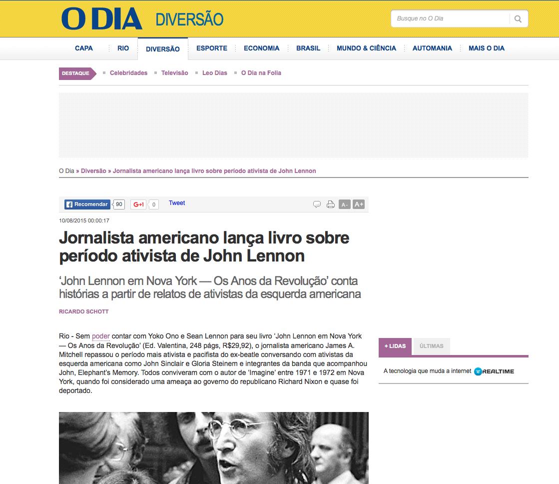 O Dia newspaper: http://odia.ig.com.br/diversao/2015-08-10/jornalista-americano-lanca-livro-sobre-periodo-ativista-de-john-lennon.html