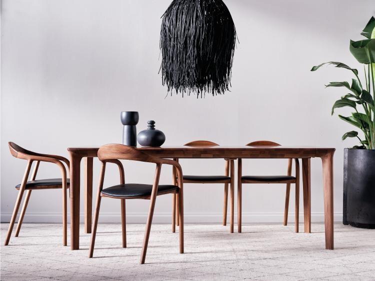 Tara Extendable Dining Table Walnut Dining Chair Extendable