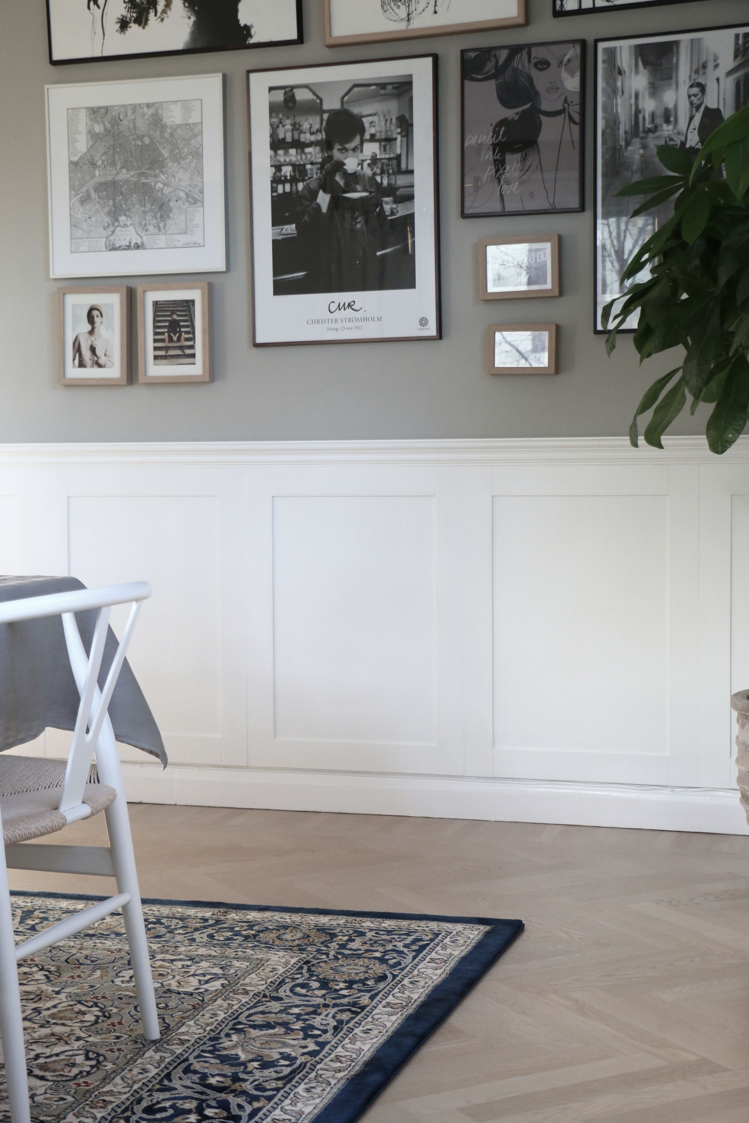 Attrayant Wainscoting (wall Panelling) DIY Tutorial (in Swedish With Photos). A  Traditional Idea That Still Fits With Modern Interiors. | Väggpanel DIY