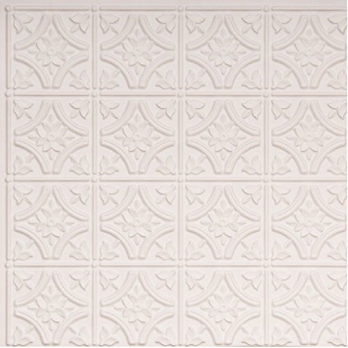 # 150 - White Matt 2' x 2' PVC Decorative Ceiling Tile Gl...