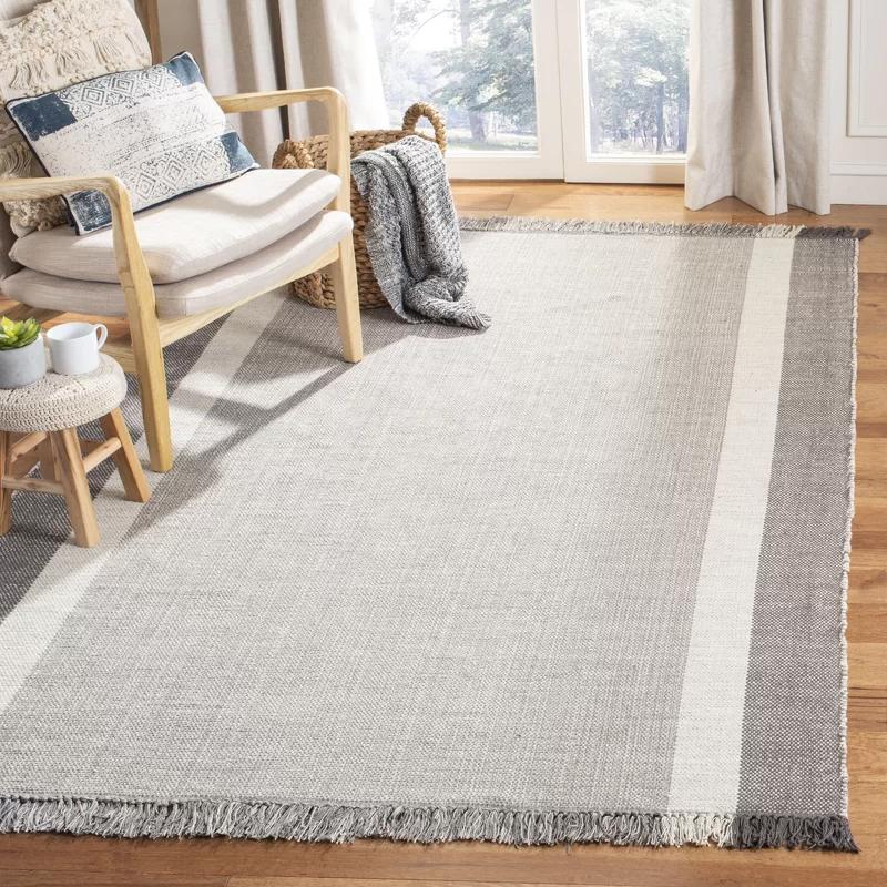 Boneta Handmade Flatweave Cotton Gray Area Rug Reviews Joss Main Rugs Grey Area Rug Flat Weave