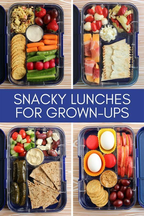 Fun, Snacky Lunches for Grown-ups #bentoboxlunch