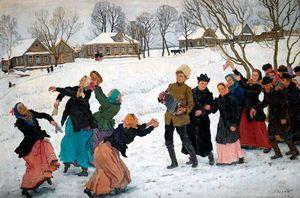 Konstantin Yuon - Der Tanz der Heiratsvermittler. Ligachevo