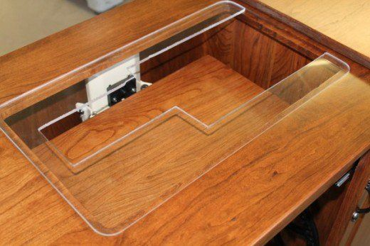 Plexiglas Inserts Are Custom Made To Fit Sewing Machines Can Be Upgraded And Used In The Same Cabinet