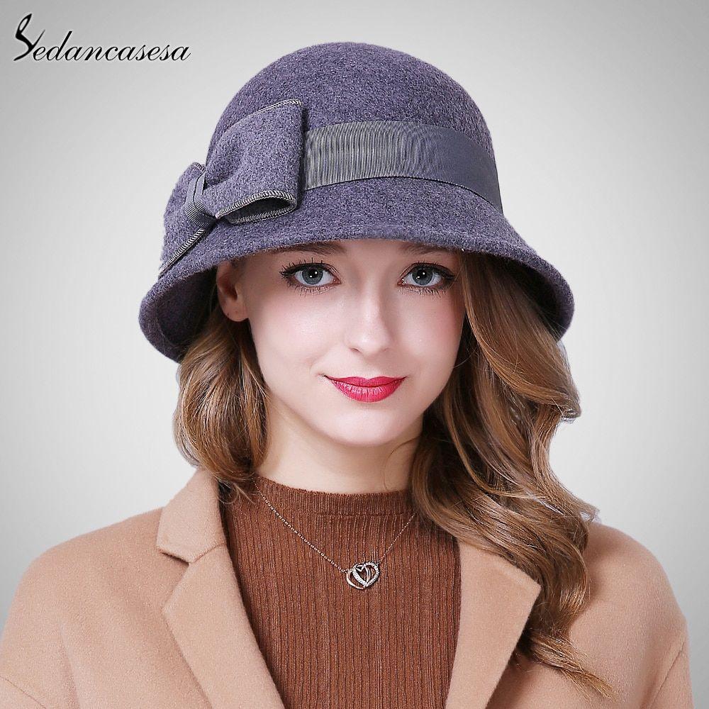 ac835e5c3564 Classic Cloche Hats For Women Australia Wool Felt Hat Elegant