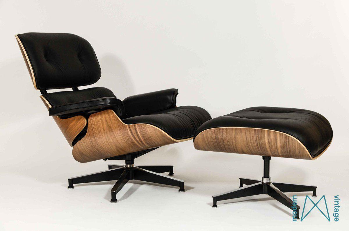 Eames Herman Miller Walnut Lounge Chair Xl Ottoman New Europe Scandinavisch Design Modern Meubeldesign Meubel Ideeen