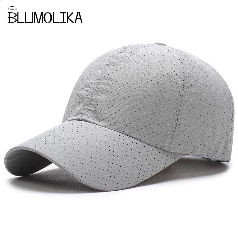 57ecc28e170 ... Baseball Caps. Beyzbol Şapkası Şapka Erkekler Kadınlar için  Ayarlanabilir Spor Golf Kapaklar Bahar Baba Şapka Trucker Snapback Toptan  için Hızlı Kuru ...