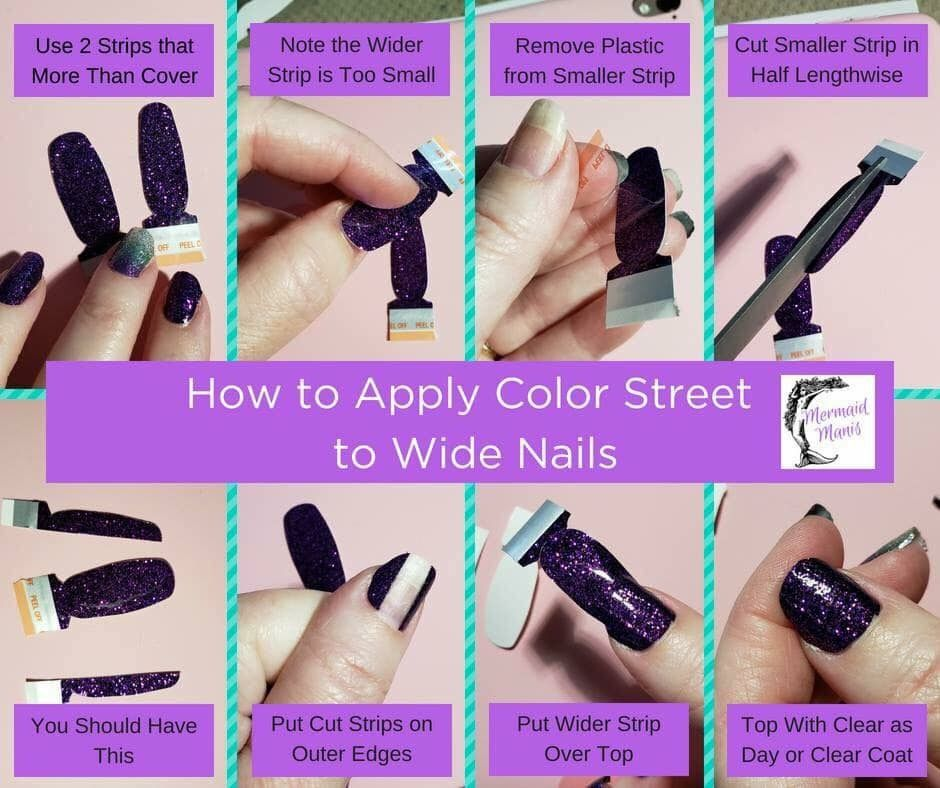 Pin By Katstrem On Nail Designs Wide Nails Color Street Nails Color Street