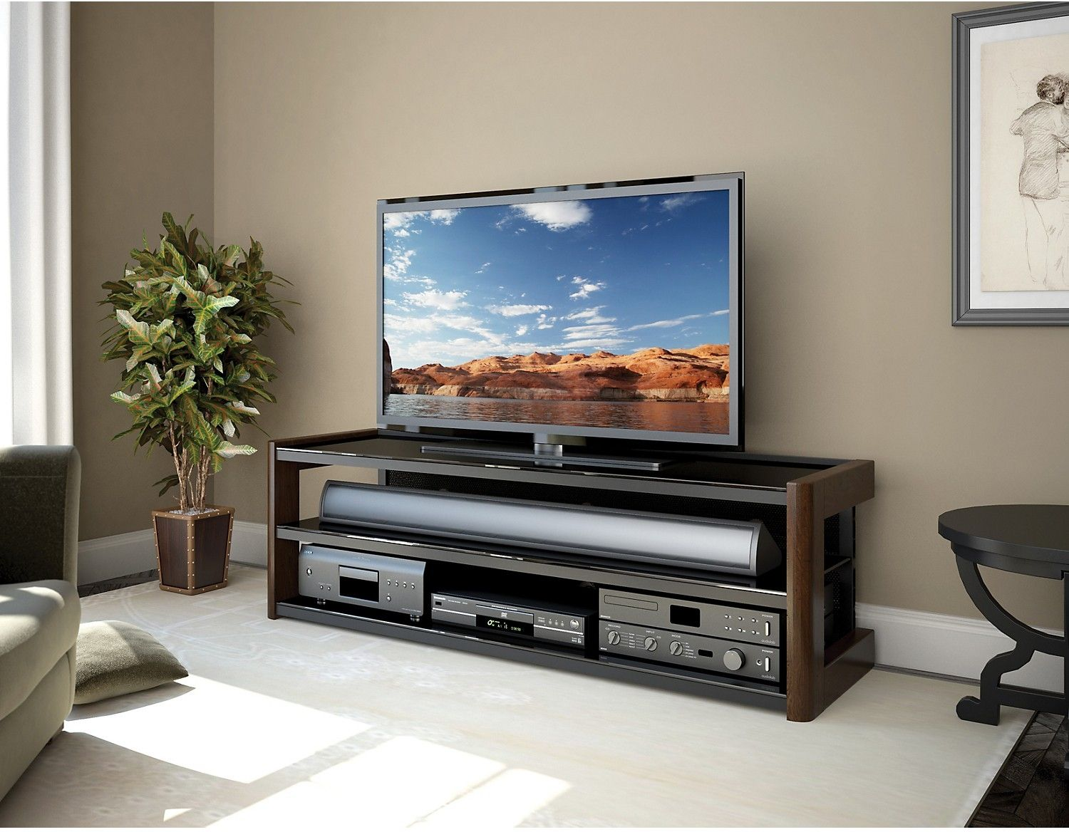 Nepal 60 Tv Stand The Brick Glass Tv Stand 60 Tv Stand Tv Stand