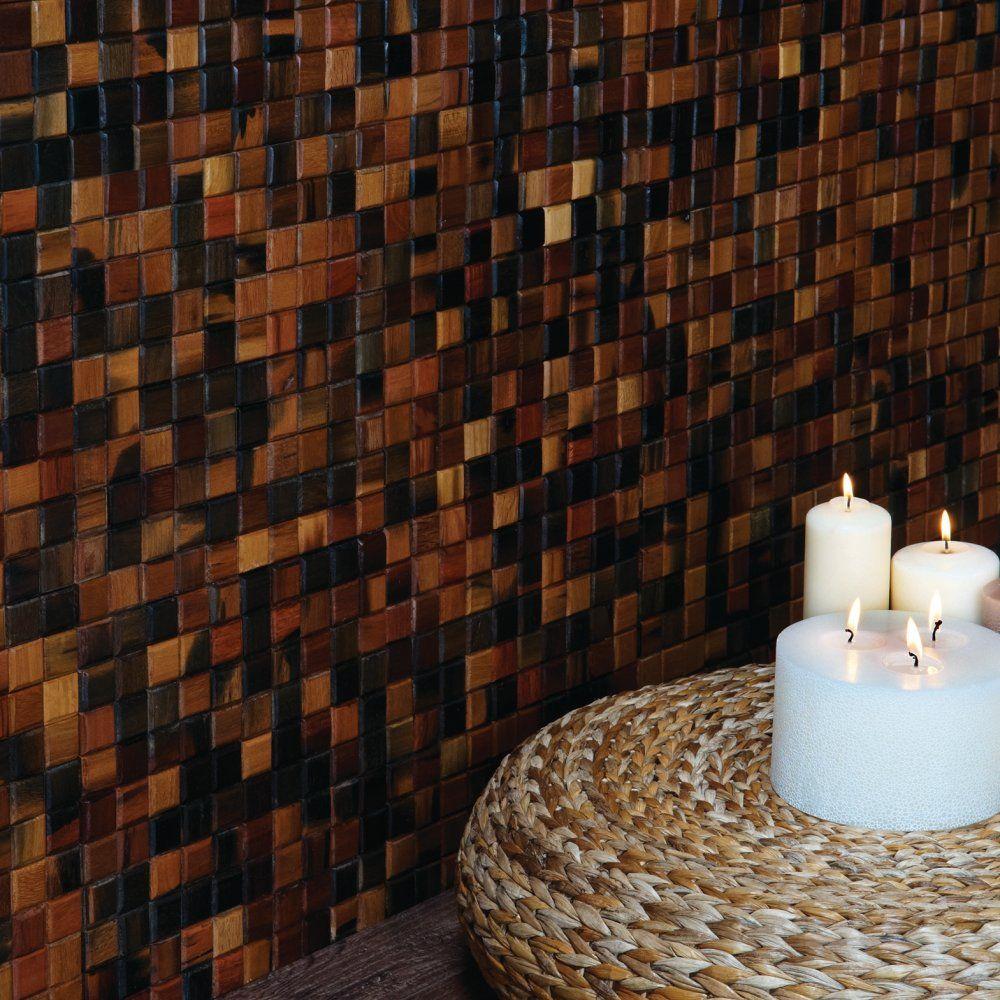 Original Style Wood Surabaya Mosaic Sheet 301x301x1cm Original
