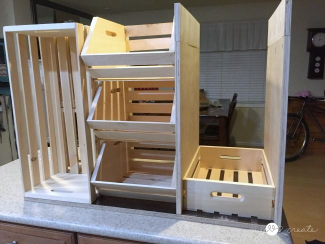 DIY Kitchen Island with Pantry Storage (Free Plan) & DIY Kitchen Island with Pantry Storage (Free Plan) | Diy kitchen ...
