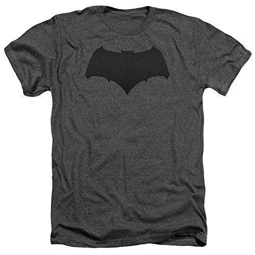 Batman Vs Superman Batman Logo Mens Heather Shirt Charcoal Lg