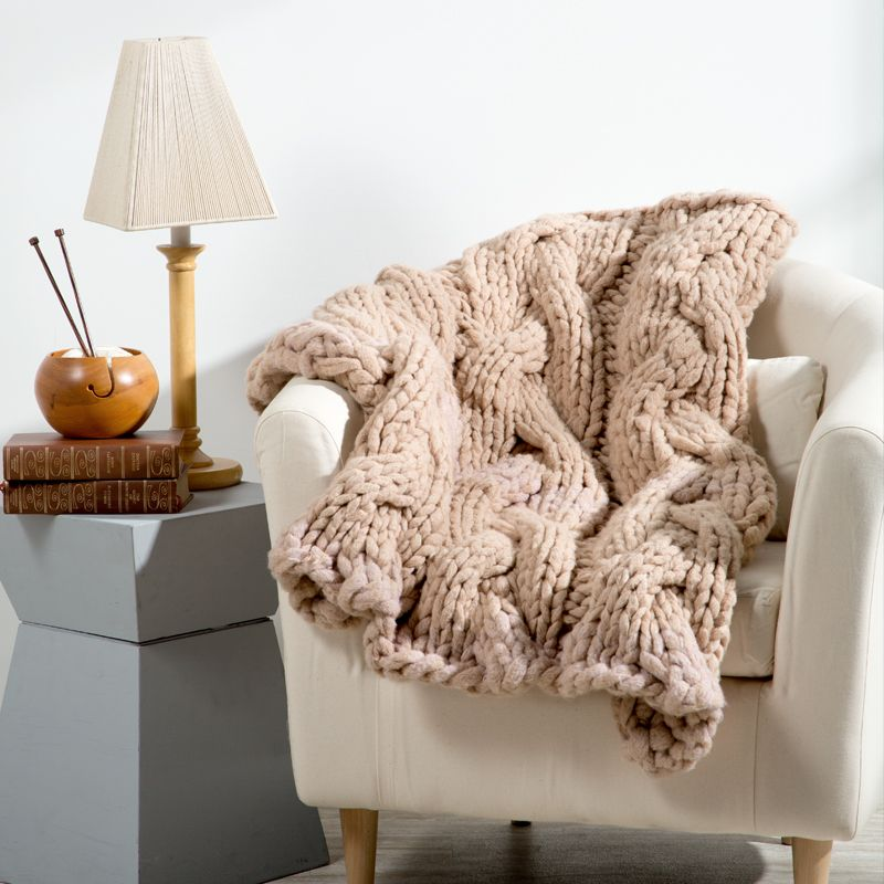 Couture Jazz Hearthside Blanket - how to knit a blanket - braided ...